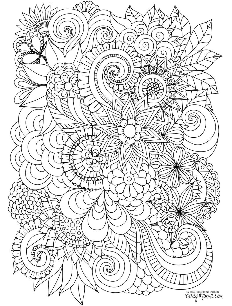 Printable Coloring Book Pages Zentangle