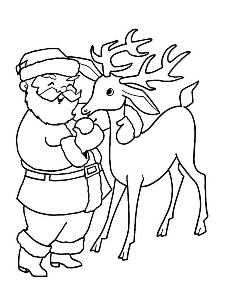 Printable Coloring Page Of A Reindeer