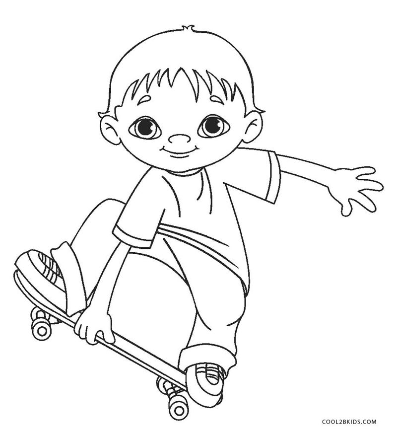 Printable Coloring Pages Boys Free