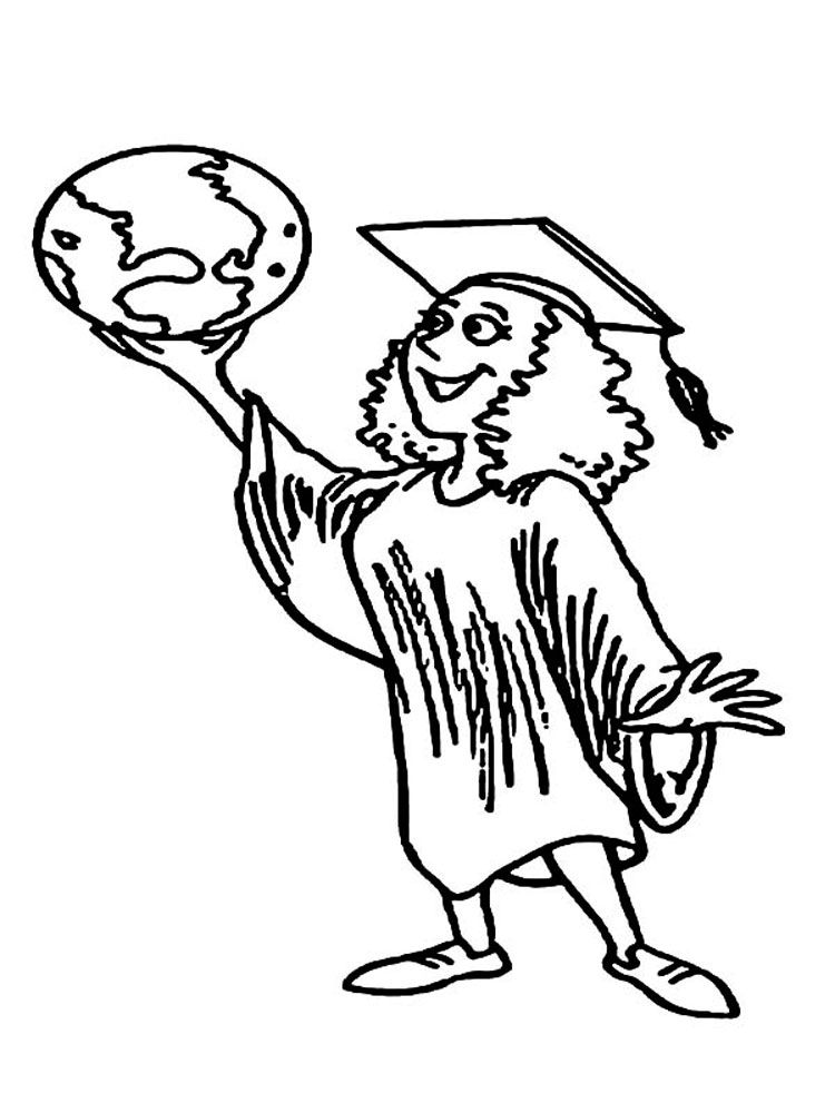 Printable Coloring Pages For Graduation