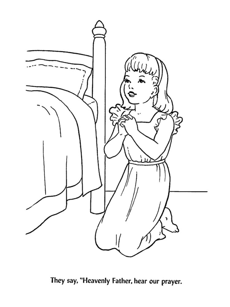 Printable Coloring Pages Prayer