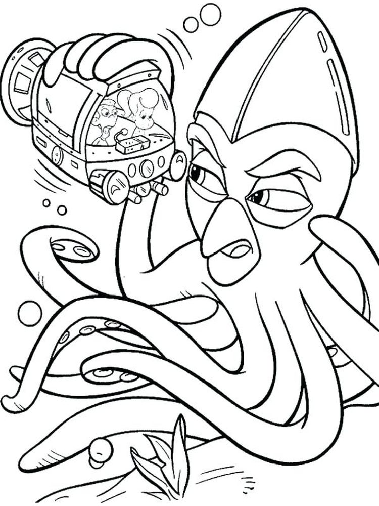 Printable Cute Octopus Coloring Pages