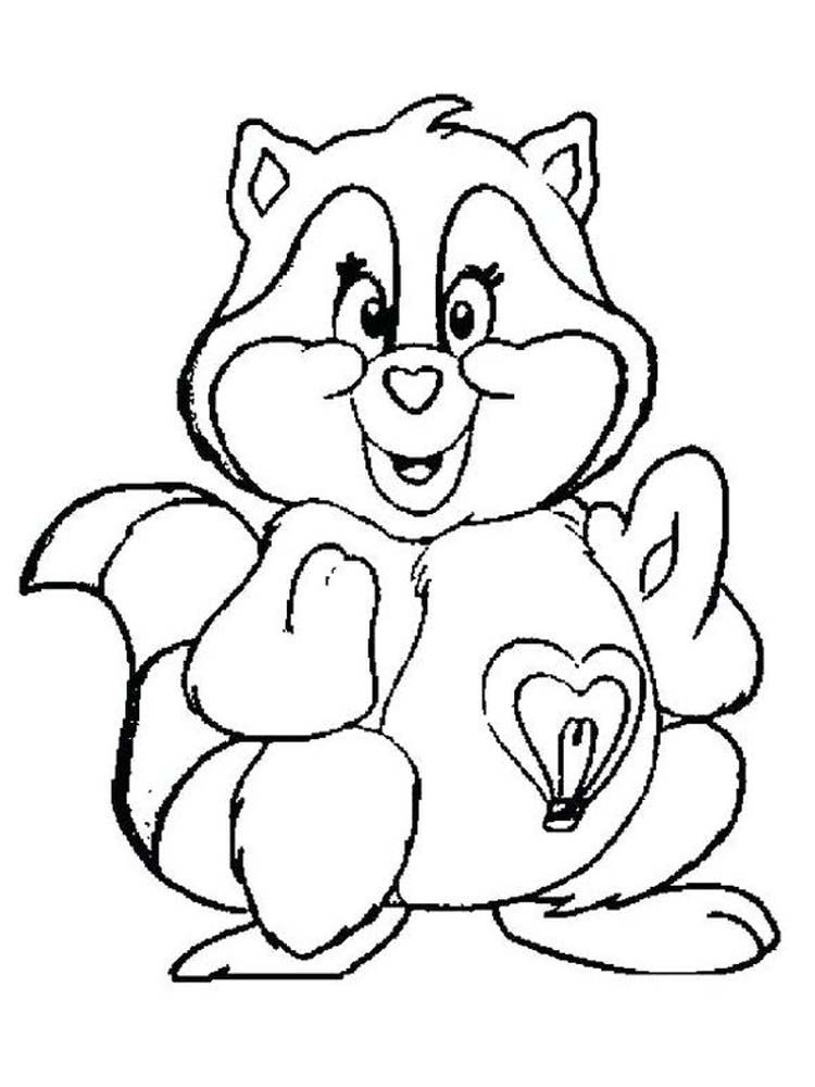 Printable Cute Raccoon Coloring Pages