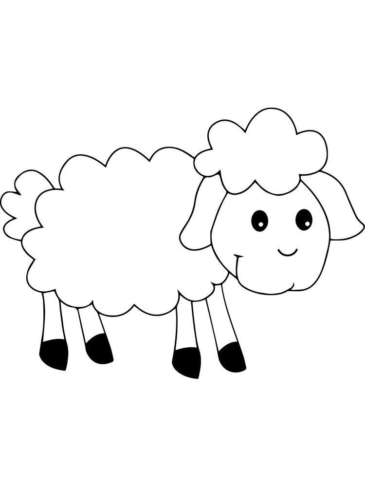 Printable Cute Sheep Coloring Pages