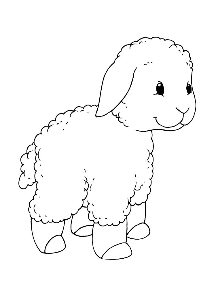 Printable Free Coloring Pages Of Sheep