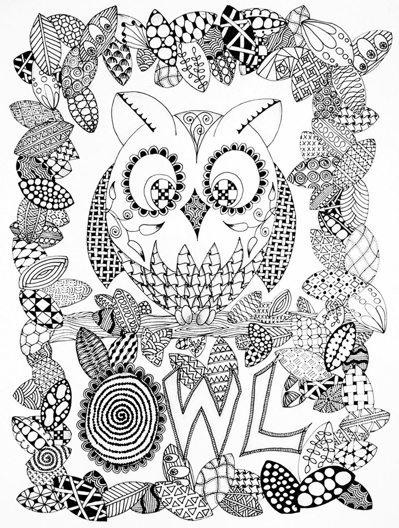 Printable Free Zentangle Coloring Pages