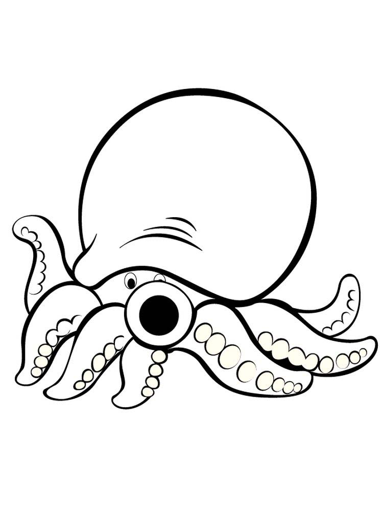 Printable Hank The Octopus Coloring Pages