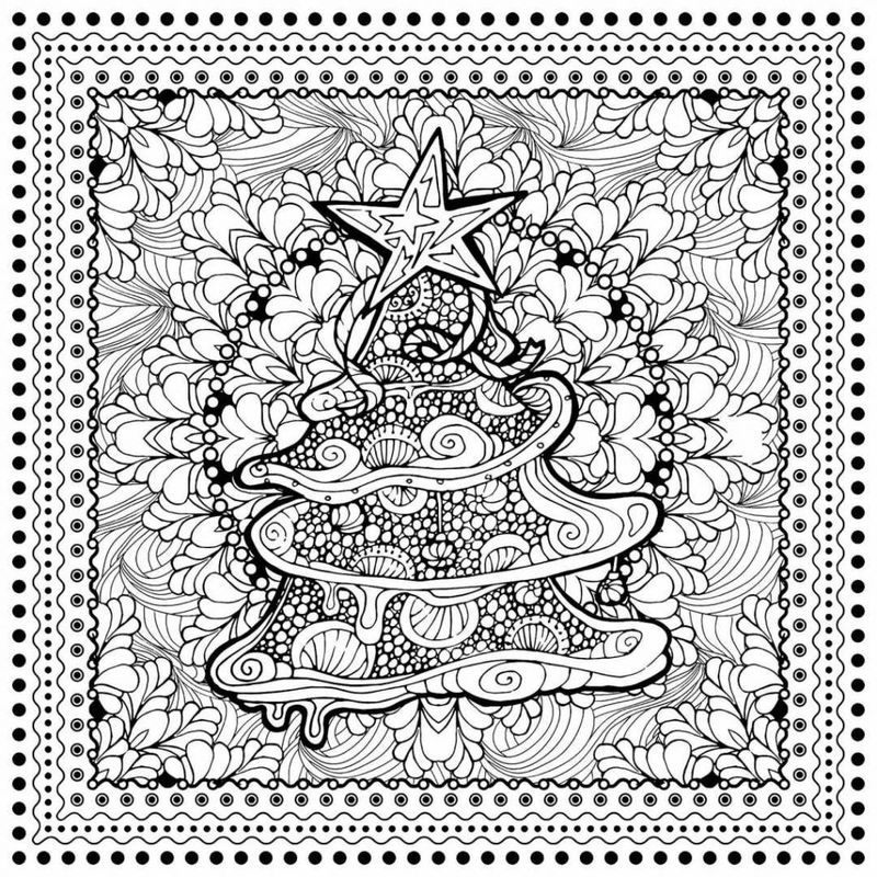 Printable Hard Zentangle Coloring Pages
