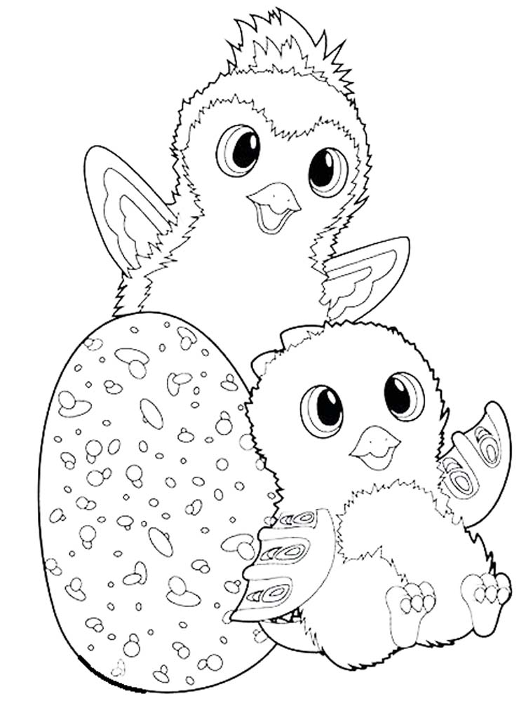 Printable Hatchimals Coloring Pages Pdf
