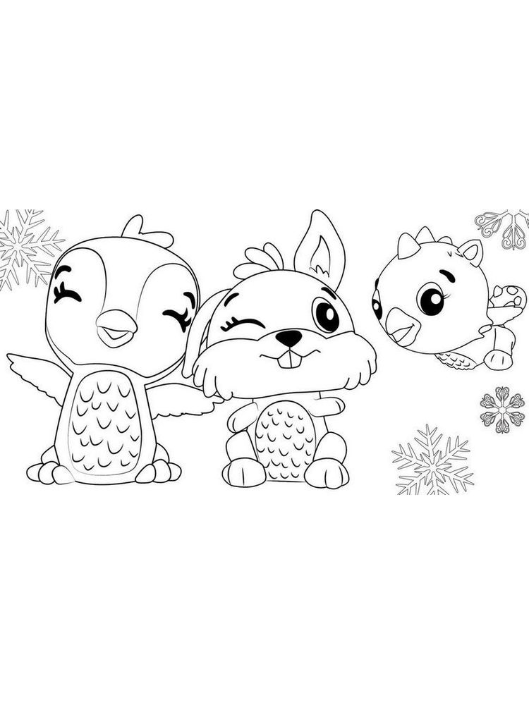 Printable Hatchimals Colouring Pages Free