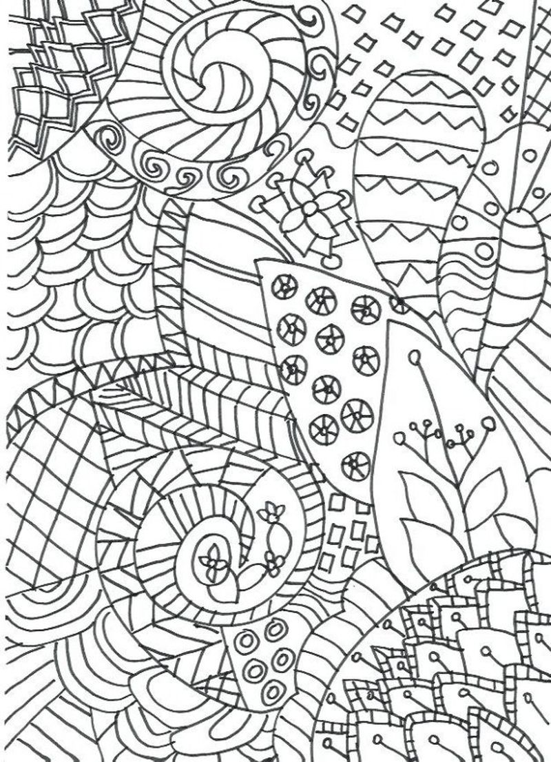 Printable How To Make Zentangle Coloring Pages