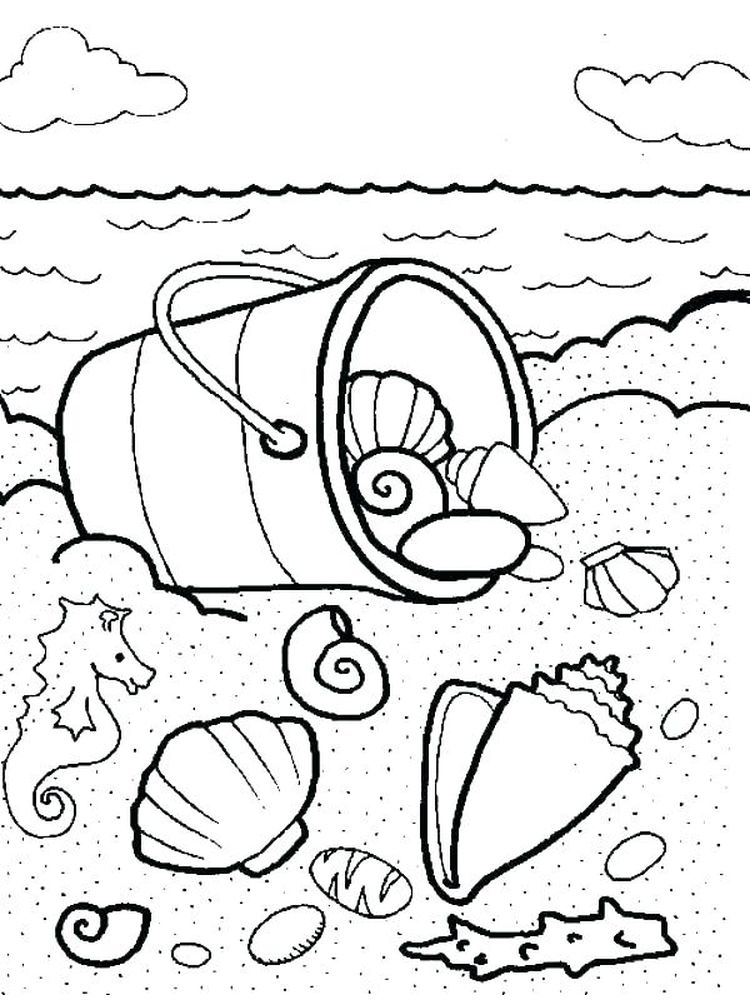 Printable Large Shell Coloring Page