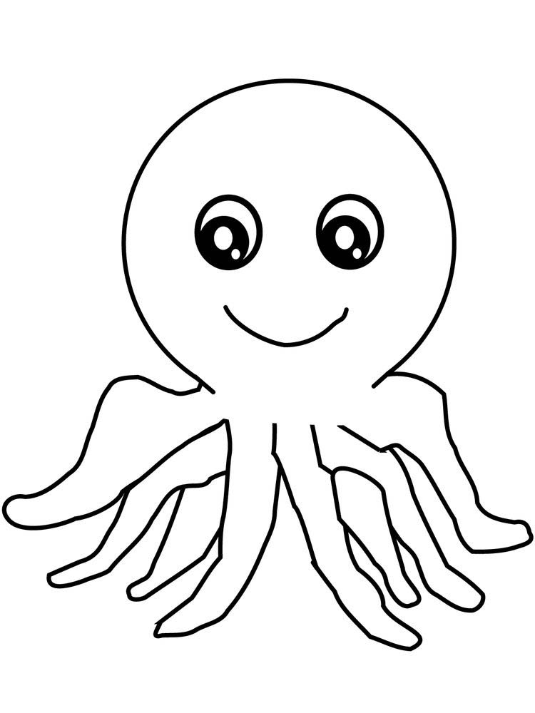 Printable Octopus Coloring Pages For Preschoolers