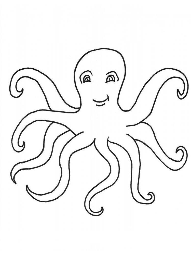 Printable Octopus Coloring Pages To Print