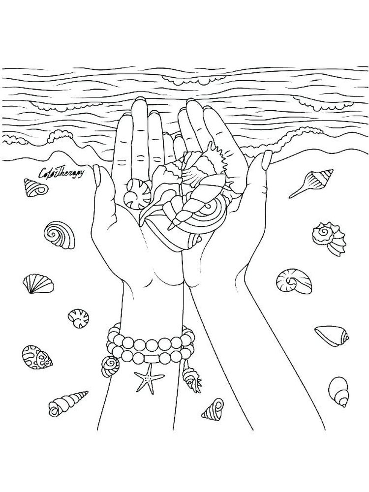 Printable Oyster Shell Coloring Pages