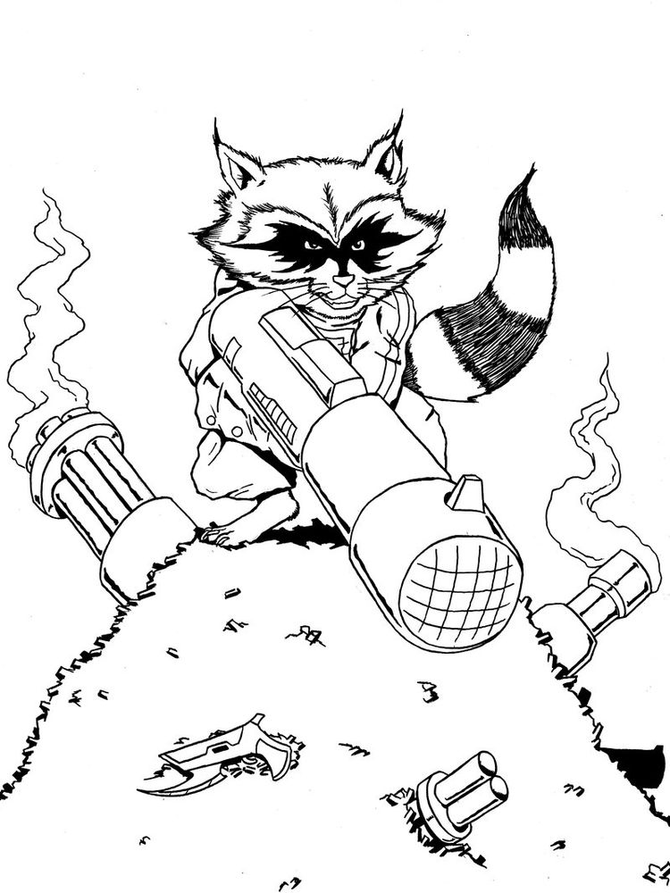 Printable Pocahontas Raccoon Coloring Page