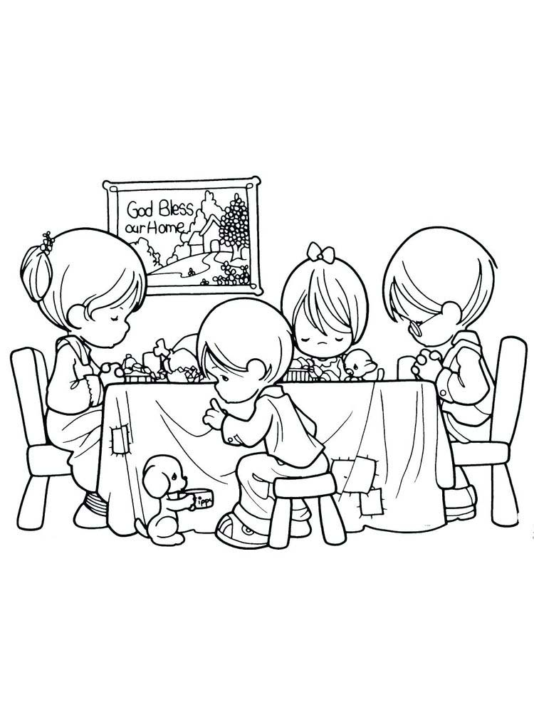 Printable Prayer Coloring Pages Free