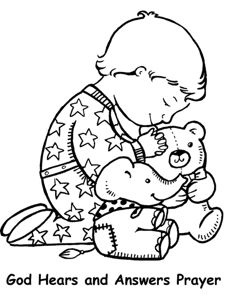 Printable Prayer Coloring Pages