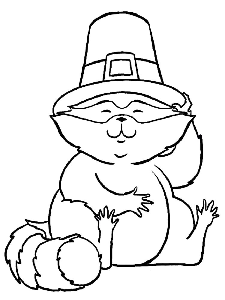 Printable Raccoon Coloring Page