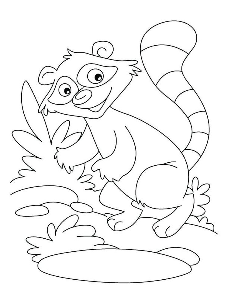 Printable Raccoon Mario Coloring Page