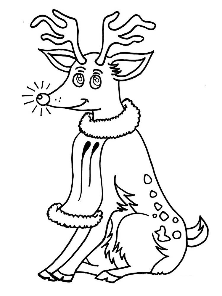 Printable Reindeer Coloring Pages For Adults