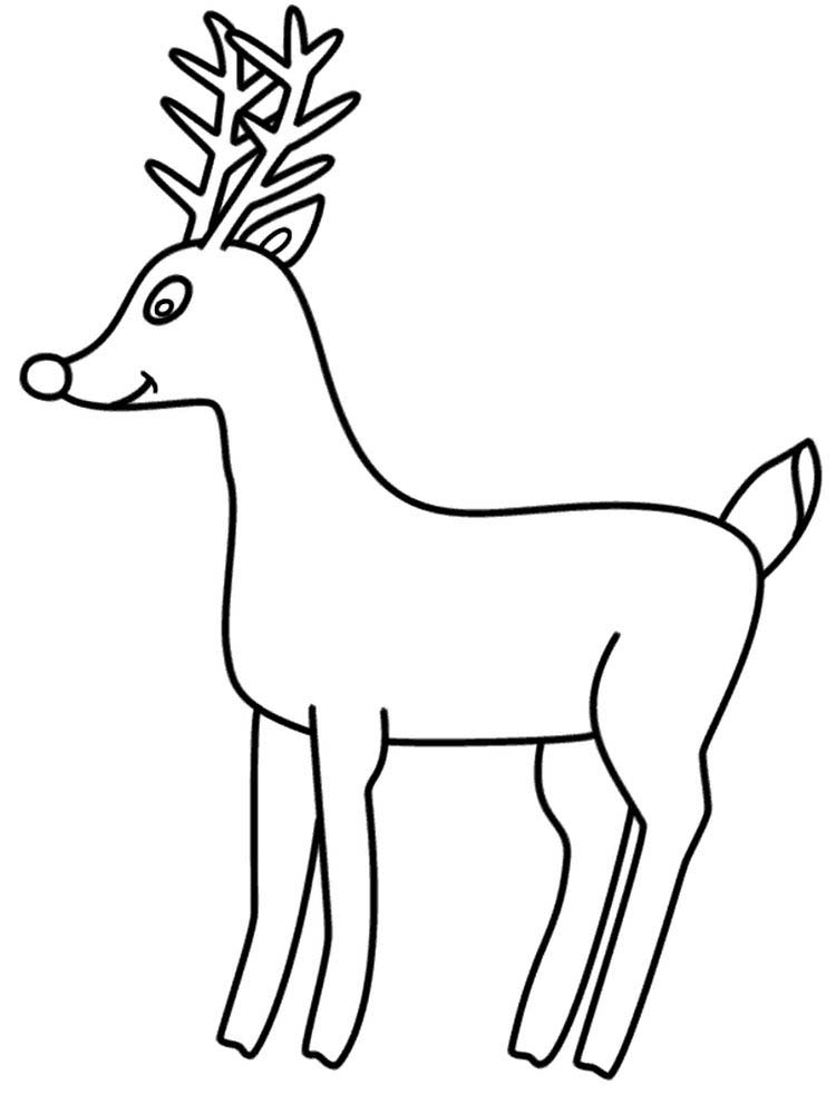 Printable Reindeer Coloring Pages For Preschoolers