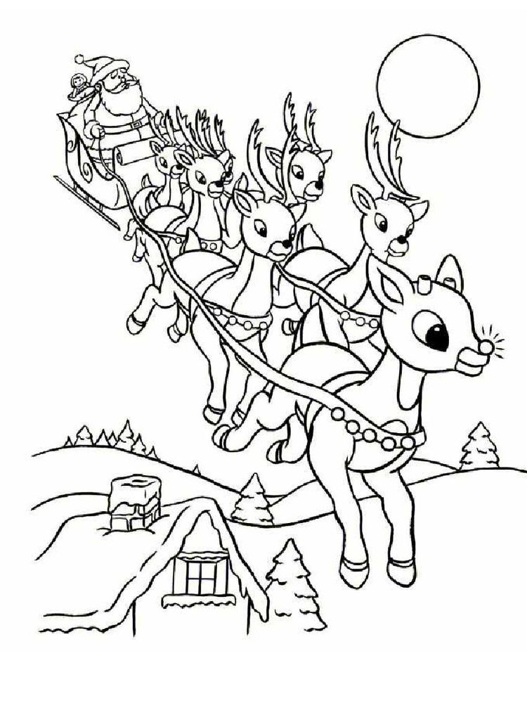 Printable Reindeer Coloring Pages For Toddlers