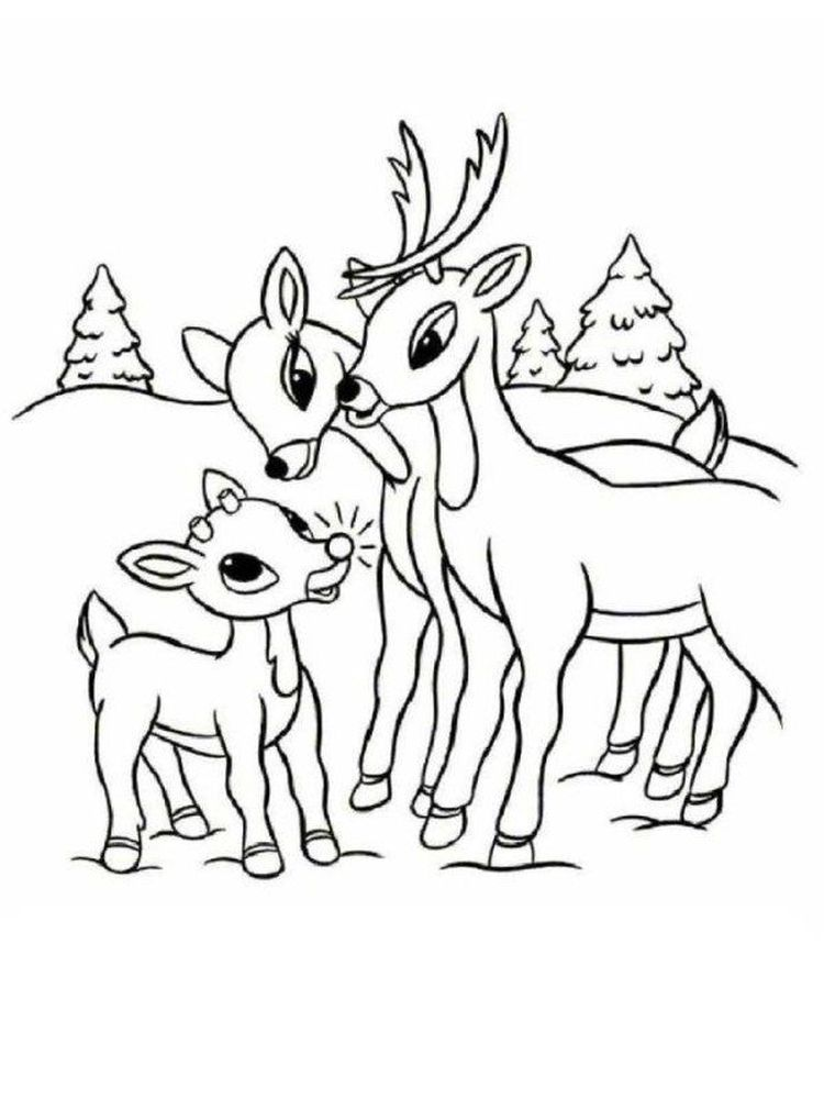 Printable Reindeer Coloring Pages Supercoloring