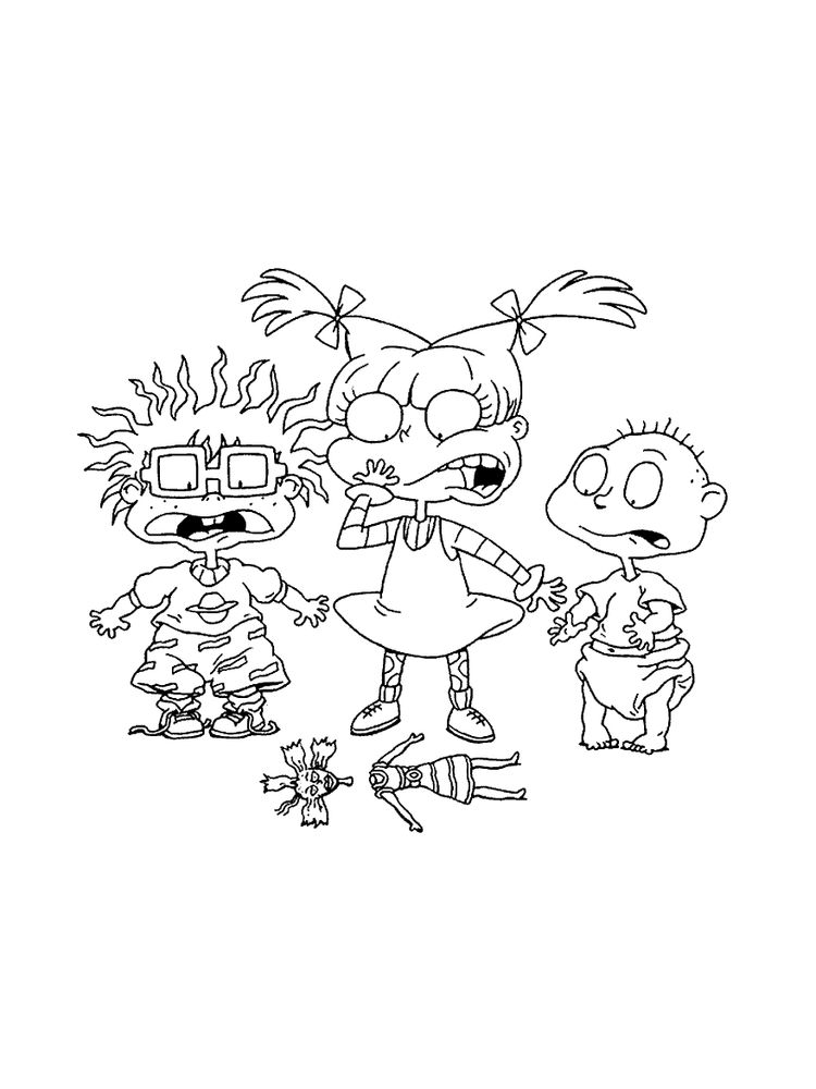 Printable Rugrats Characters Coloring Pages