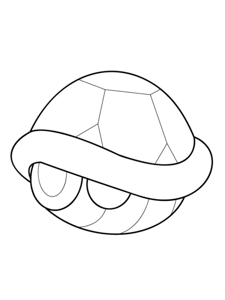 Printable Scallop Shell Coloring Page