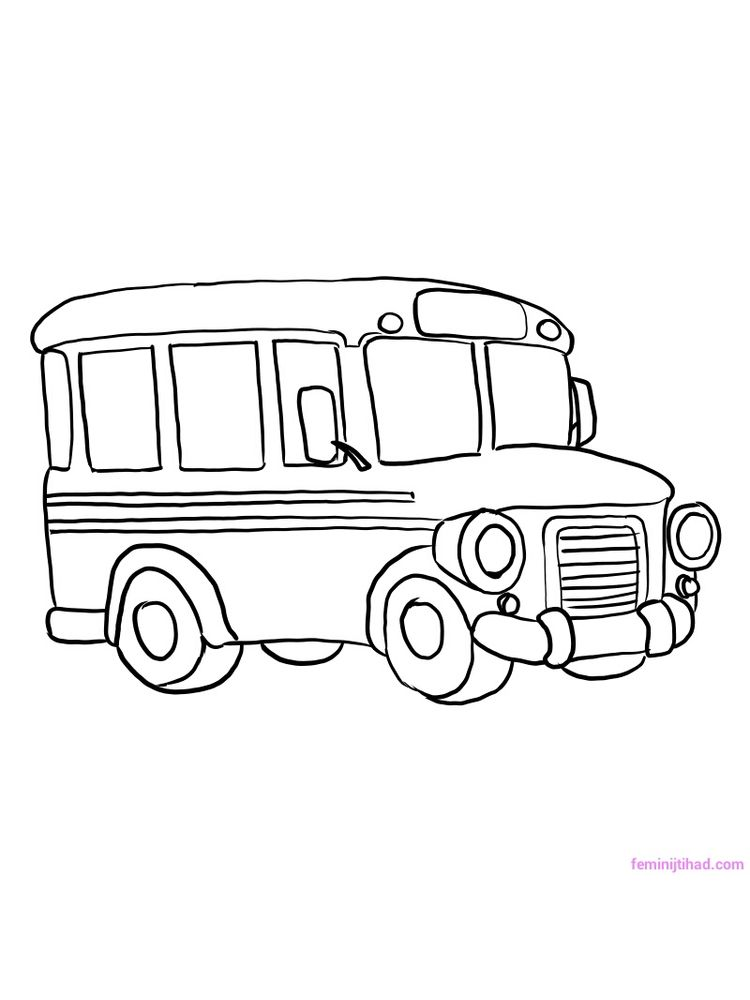 Printable School Bus Coloring Pages For Kindergarten