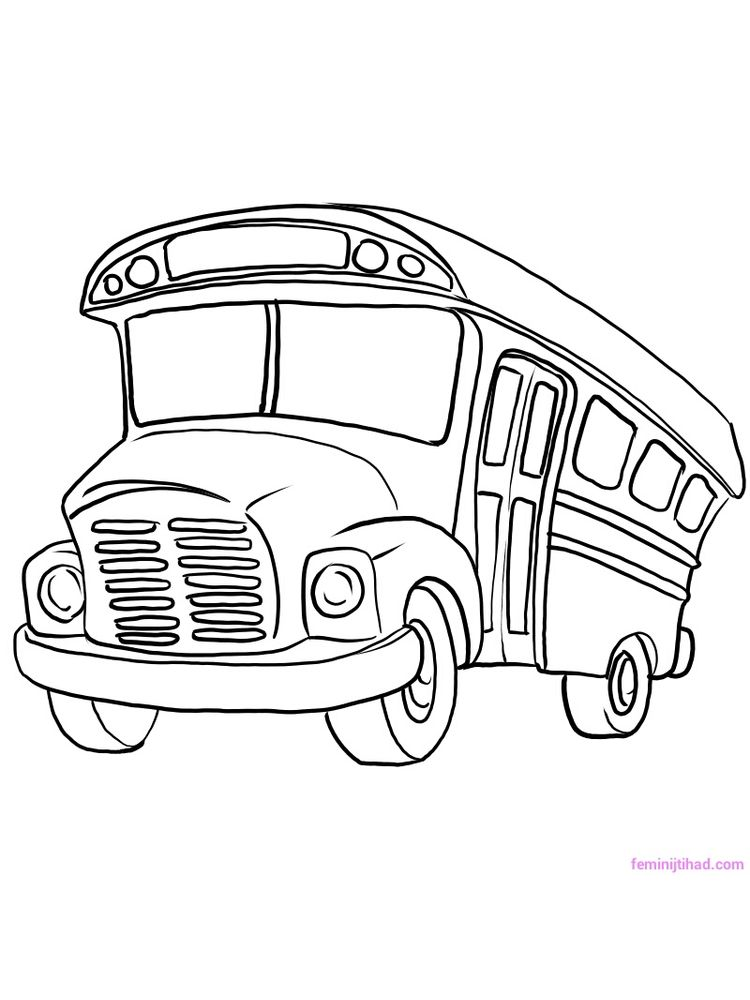 Printable School Bus Coloring Pages For Toddlers