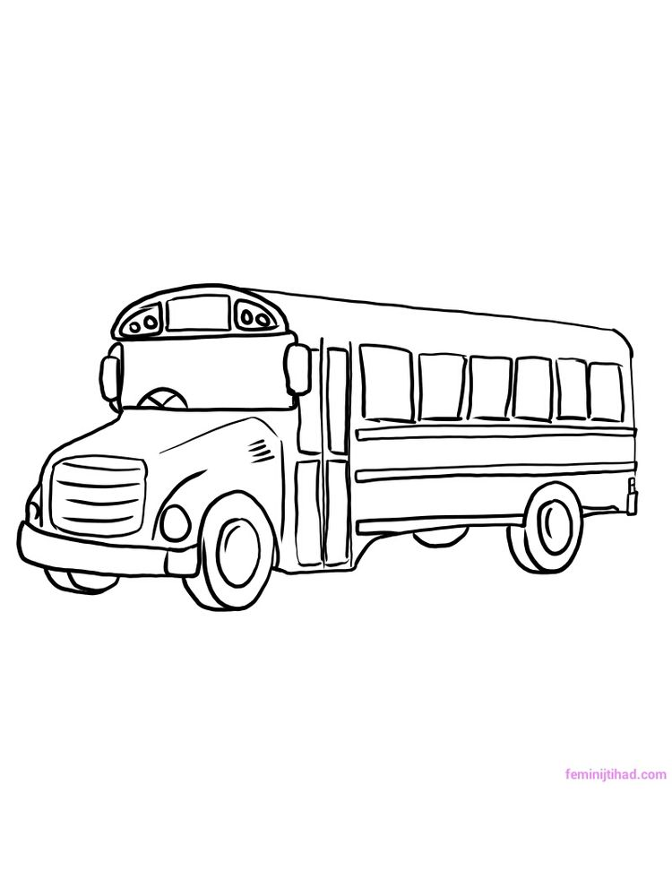 Printable School Bus Coloring Pages Free