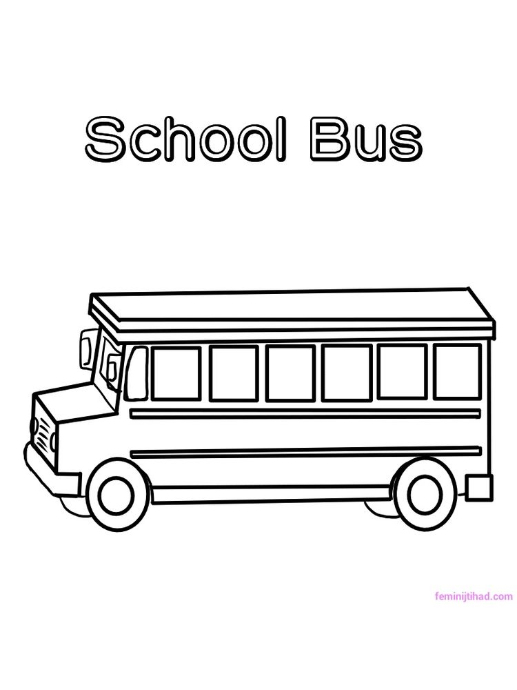 Printable School Bus Coloring Pages Pdf