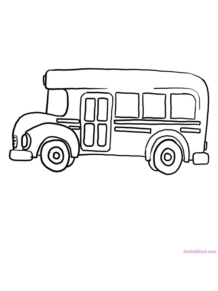 Printable School Bus Coloring Pages