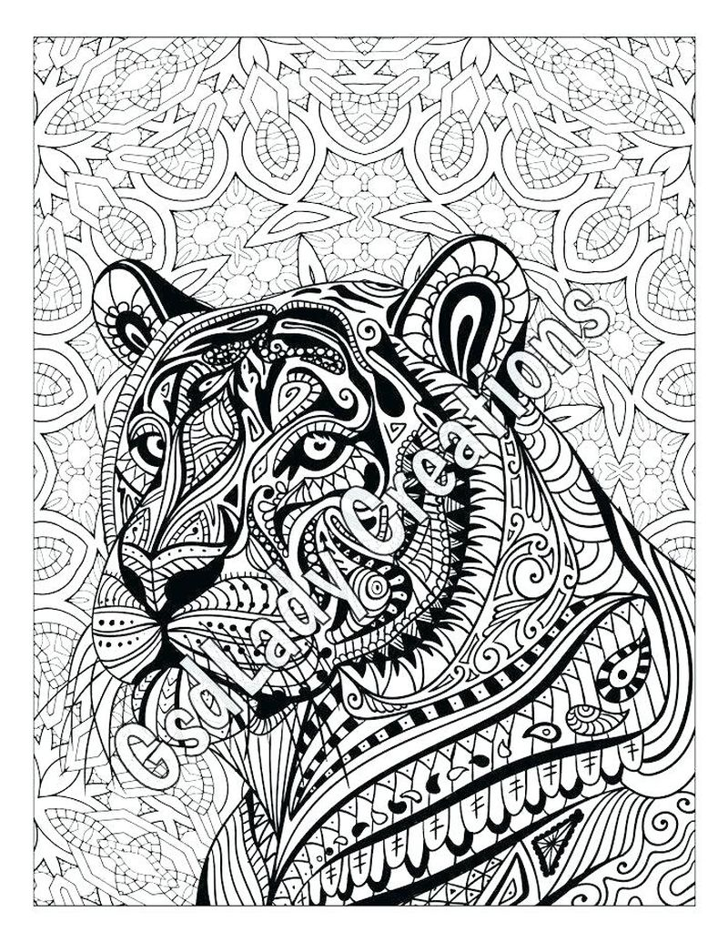 Printable Tiger Zentangle Coloring Pages