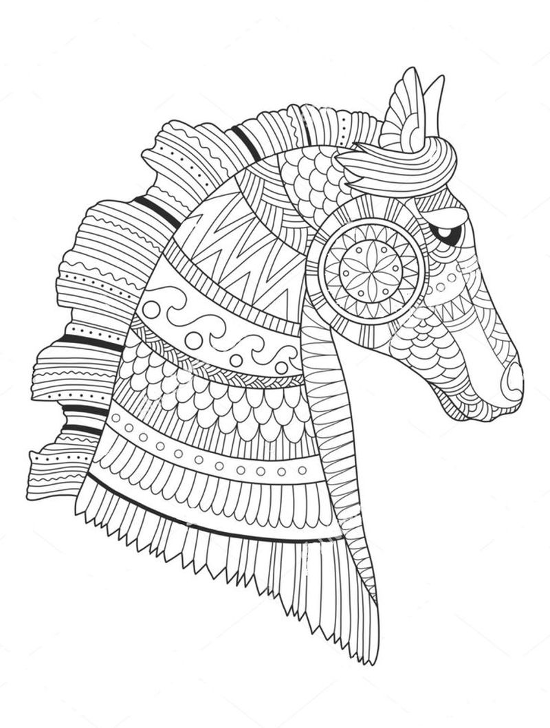 Printable Zentangle Coloring Pages For Adults