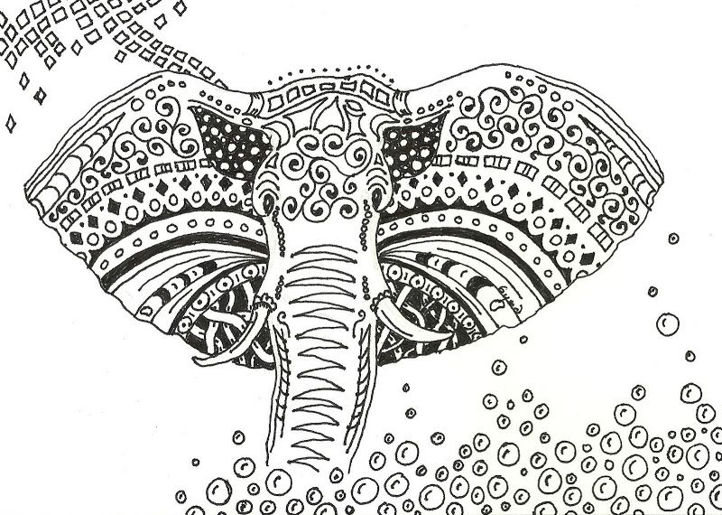 Printable Zentangle Coloring Pages