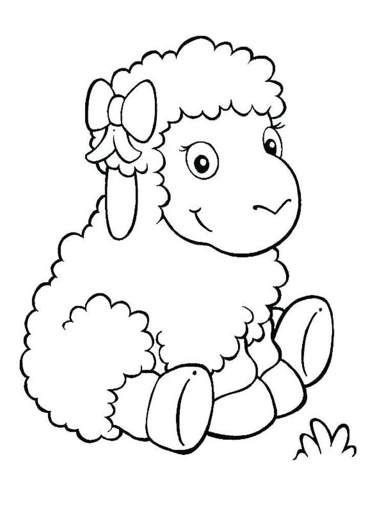 Printable of Coloring Pages Of Sheep