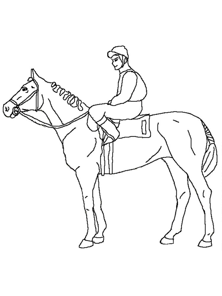 Printable wild horse coloring page print