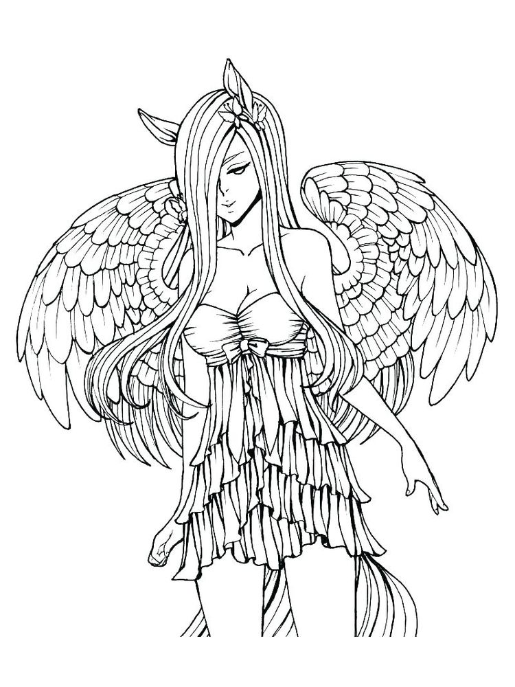 download Gothic Fairy Coloring Pages Printable