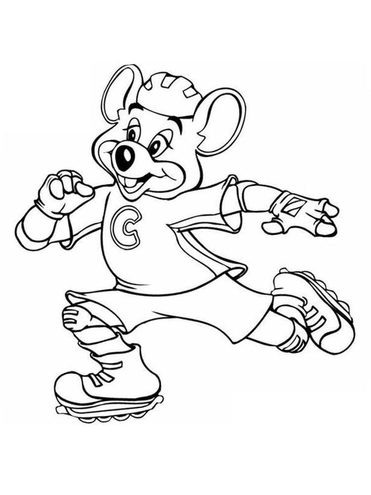 download chuck e cheese coloring pages free printable