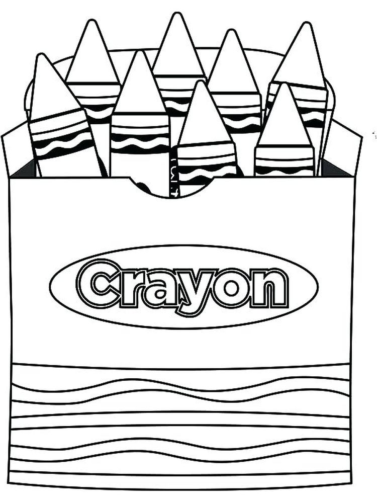 download crayon coloring pages to print