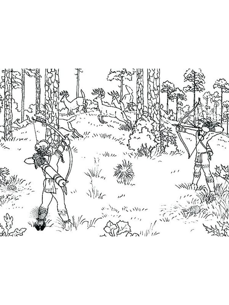 download hunting printable coloring pages