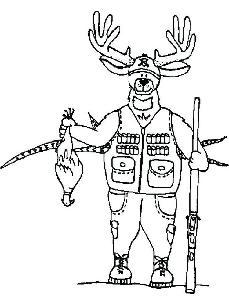 download printable hunting coloring pages pdf
