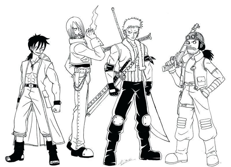great one piece coloring pages