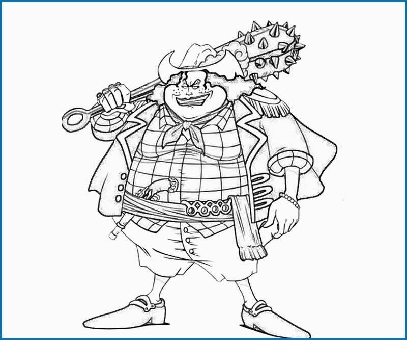 one piece coloring page print