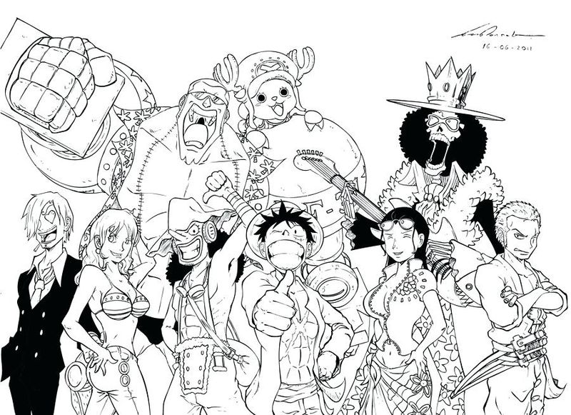 one piece coloring pages pict