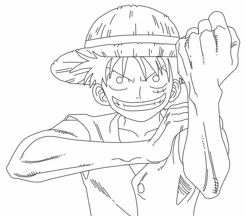 one piece coloring pages sheet