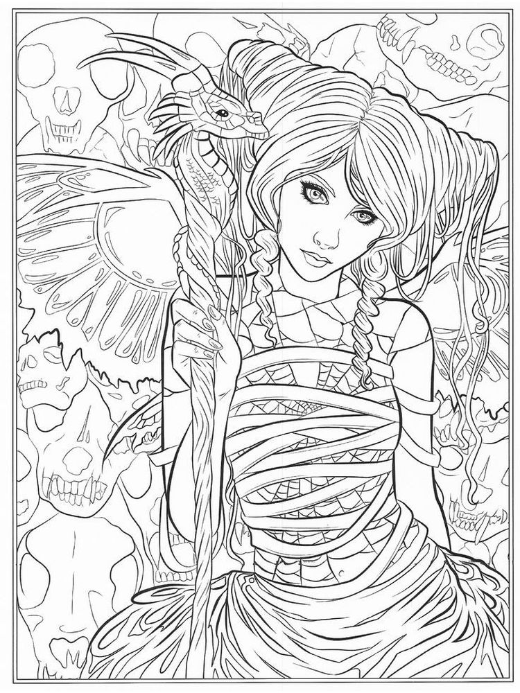 printable Free Printable Gothic Coloring Pages
